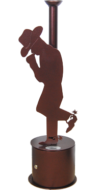 custom cowboy smoking receptacle