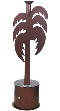 Palm tree smoking receptacle